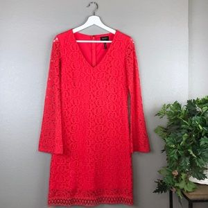 Laundry by Shelli Segal Lace Shift Dress Hibiscus